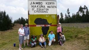 On The equator  - Kenya