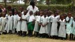 RUSH Academy school children greetting Springfield Church