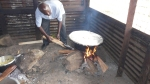 Lunch being cooked at RUSH