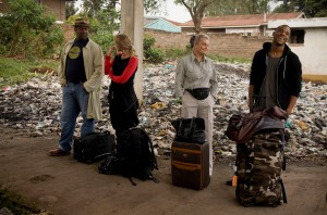 Angela Rippon, Lenny Henry, Reggie Yates and Samantha Womack in Kibera for Famous, rich and in the slums