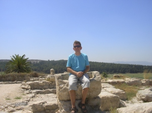 Meggido, Israel. Will Cookson on the Governor's chair