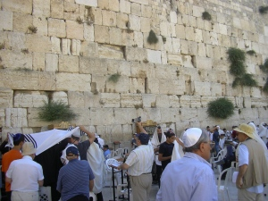 Praying at the Western Wall in Jerusalem