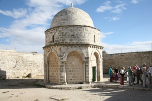The supposed place of the Ascension of Jesus in Bethany near Jerusalem
