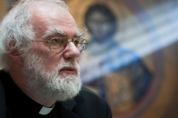 Rowan Williams in the Holy land
