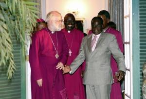 Rowan Williams meets President Robert Mugabe