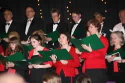 Choir singing at Springfield Church Carol Service