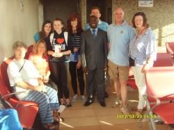 Leaving at Kisumu airport - Andrew dressed for a Kenya Football meeting