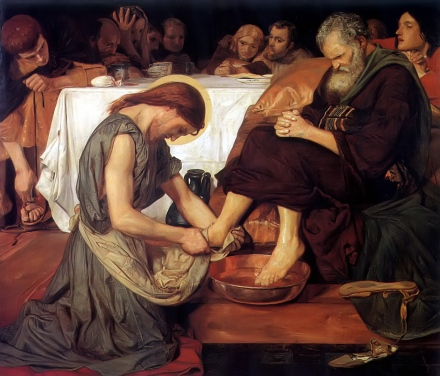 Ford Maddox Brown's - Christ Washing Peter's Feet