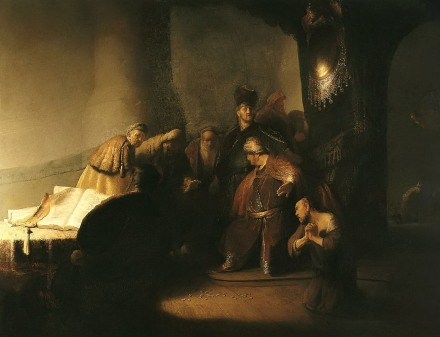 Rembrandt - Judas Returning the Thirty Pieces of Silver