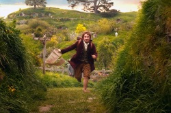 Bilbo starts out on his adventure in the Hobbit