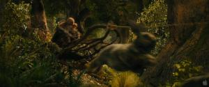 Radagast being pulled by rabbits