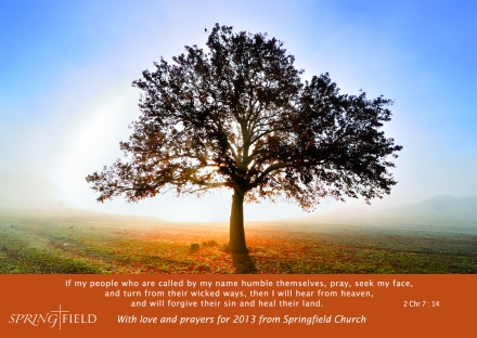 Motto card for Springfield Church 2013