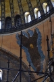 One of the 4 angels around the dome of the Hagai Sophia. Notice that it has no face - these were covered to prevent muslims being offended
