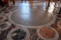 This is the place where the Byzantine Emperors were crowned in the Hagai Sophia
