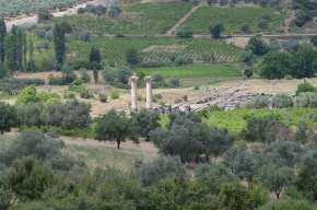 View from above of the Temple of Artemis