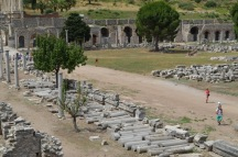 The Commercial Agora or marketplace in Ephesus is huge. It is where Demetrius and others worked and sold their wares