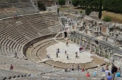 Roman Theatre at Ephesus from half way up the Theatre. It could hold over 20,000 people