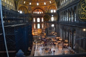 Looking down from the gallery of the Hagia Sophia