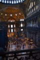Looking down into the Hagia Sophia from the gallery