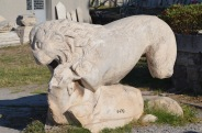Statue of a lion attacking a goat? Smyrna