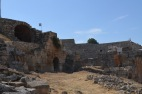 Looking in to the Roman Ampitheatre at Hierapolis