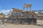 Pergamum - Part of roof and end of Temple of Trajan