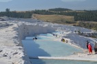 Someof the pools of Pamukkale, Hierapolis
