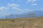 Sense of the desolation of the place. Set of columns set against the mountains at Laodicea