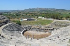 The ampitheatre at Miletus. The port was just in front of the theatre