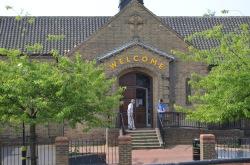 St Christopher entrance, Holmes Wood