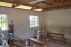 Preparing a classroom for painting