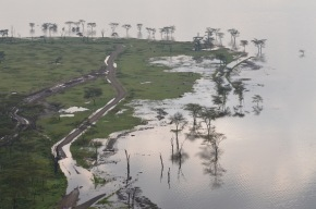 New roads have had to be constructed due to the floods