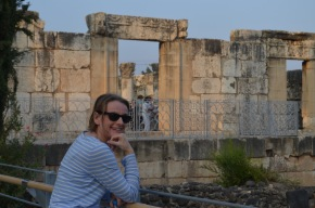 The synagogue at Capernaum. first century part is the
