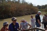 At the Baptismal site on the River Jordan near Jericho