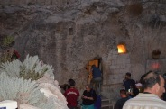 The Garden Tomb in Jerusalem. A first century tomb that gives an idea of the sort that Jesus may have been buried in