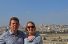 On Mount of Olives overlooking Jerusalem