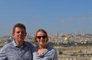 On the Mount of Olives overlooking Jerusalem