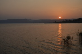 Sunset over Lake of Galilee