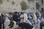 The Western Wall in Jerusalem. This is the retaining wall for the old Temple (of which nothing is left)